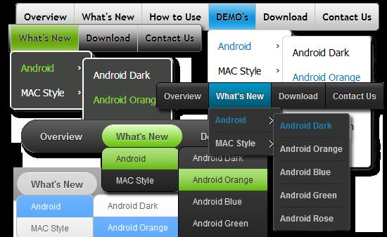 100+ Free CSS Menu Designs