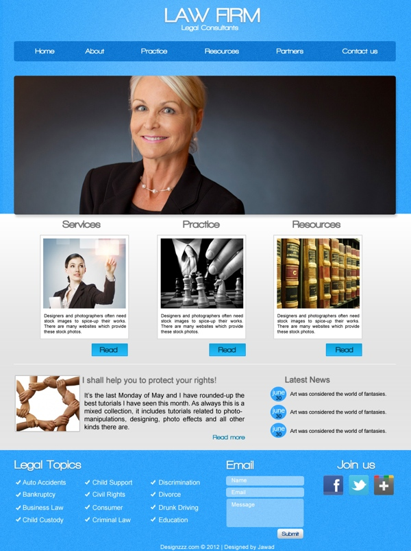 download free psd of law firm web templates design news