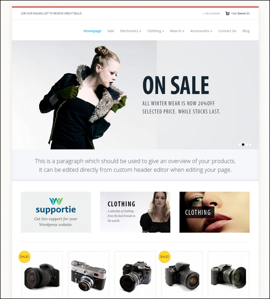 60+ Free WordPress eCommerce Themes