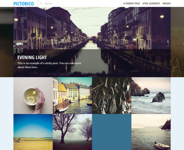 Responsive WordPress Themes for Photography Blogs