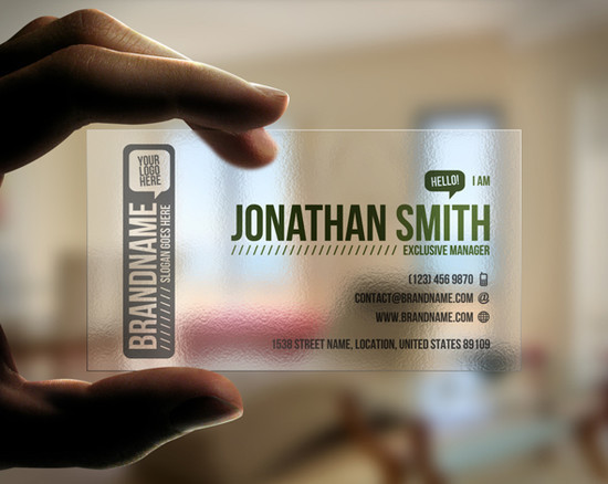 80 Transparent Business Cards Designs