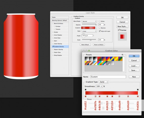 How to Create Coca Cola Can in Photoshop?