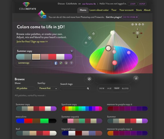 Top 10 Resources to Create Web Colors Schemes