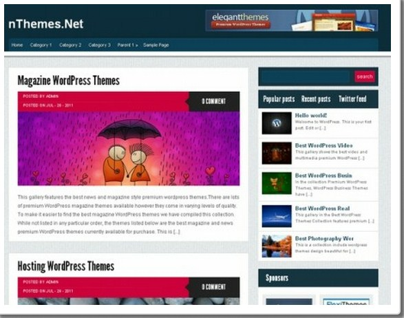 25+ Free of cost as well as Premium WordPress Blog Themes