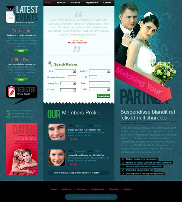 30+ Top Quality Wedding PSD Templates
