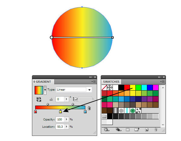 Adobe Illustrator: Controlling Gradient Fills in Designs