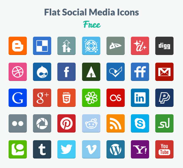 Awesome Social Media Icons Free download