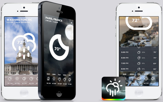 Best Weather Mobile Apps designs