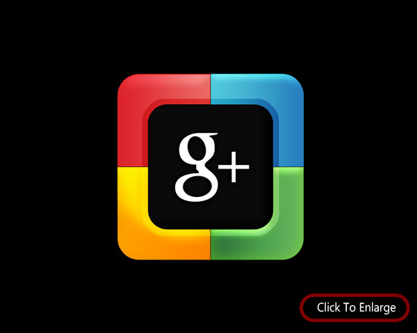 Creation of Google Plus Button in Photoshop