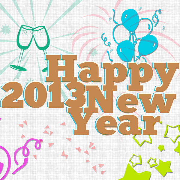 Free Happy New Year Photoshop Burshes