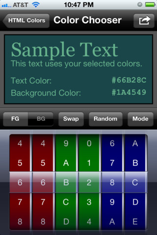 iPhone and Android Pantone Color Apps