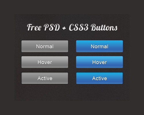 20+ Free CSS3 Buttons Download