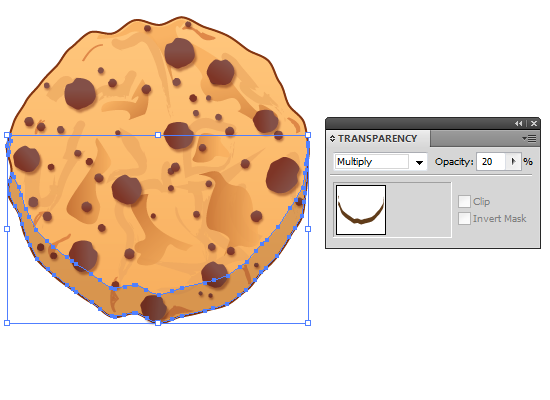 Awesome Creation of Delicious Chocolate Chip Cookie In Illustrator