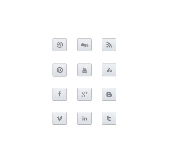 Awesome Minimalistic Social Media Icon Designs Free