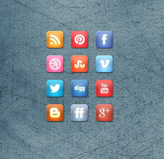Awesome Slick Grid Design Social Media Icon Set Free
