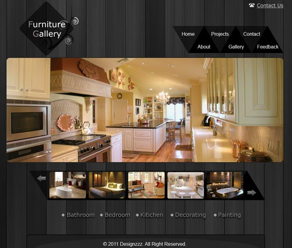 Best Free Furniture Website and Gallery PSD Layout to Download