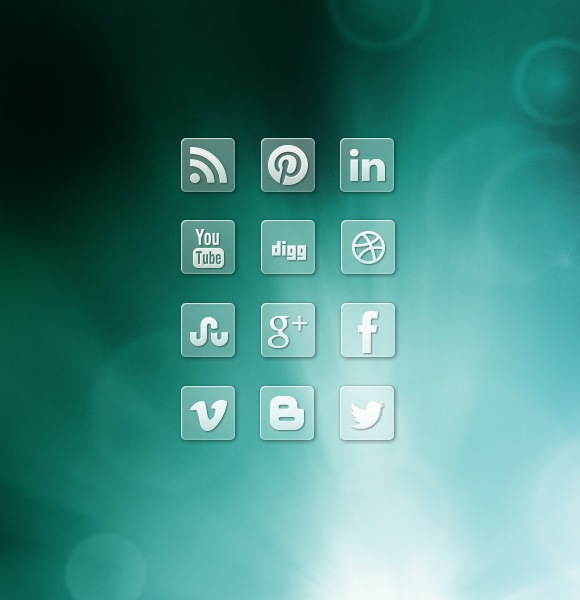 Cool Transparent Social Media Icon Designs