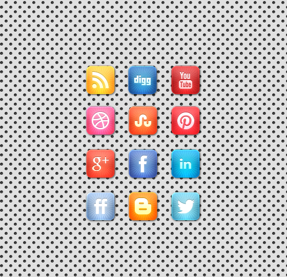 Cool Vibrant Starburst Social Media Icon Designs Free