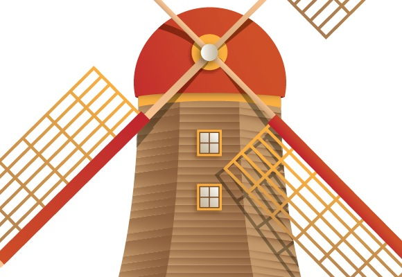 Creating Beautiful Windmill Design Using Illustrator