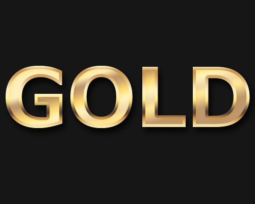 Creation of Slick Gold Text Effect Design Using Photoshop