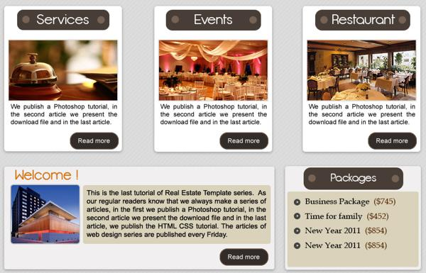 Download Free PSD Web Template for Hotel Websites