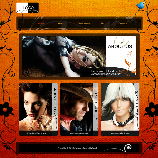 Free PSD for Fashion and LifeStyle Web Templates