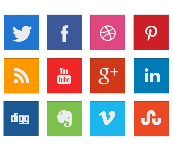 Free Squared shaped Social Media Icon Designs