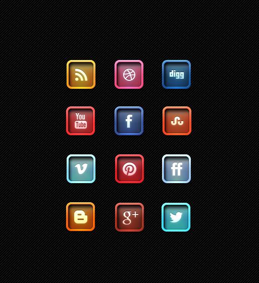 Marvelous Letter Pressed Social Media Icon Designs Free