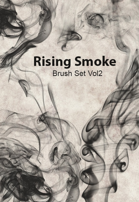Photoshop Brush Designs with Rising Smoke Free