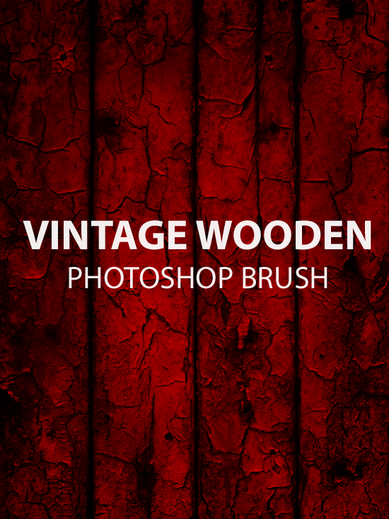 A Beautiful Vintage Wooden Photoshop Brush Design Free