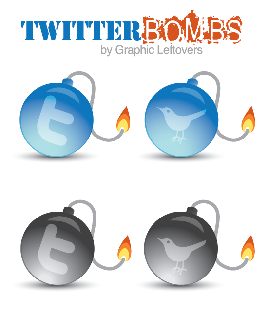 Awesome Twitter Bomb Icons Free