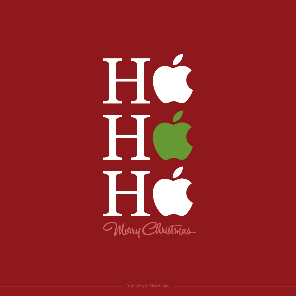 Beautiful Apple Christmas iPad Background Images Free