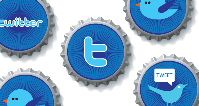 Beautiful Twitter Bottle Cap Icons Free