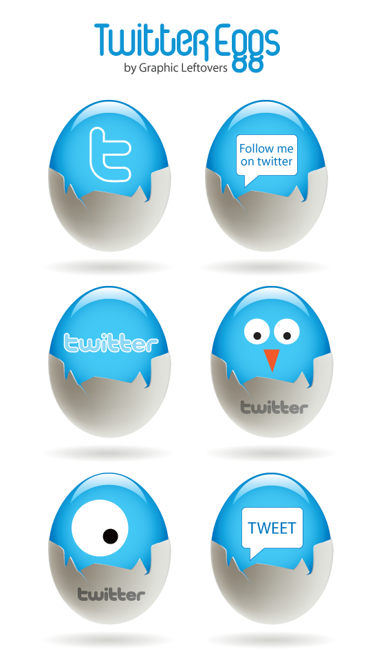 Beautiful Twitter Eggs Icon Designs Free