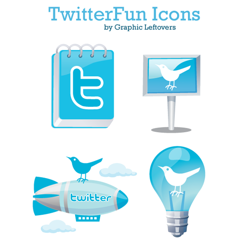 Beautiful Twitter Fun Icons Free