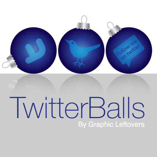 Beautiful Twitter Holiday Ornament Icons Free