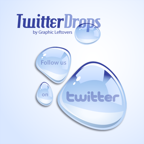 Beautiful Twitter Water Droplet Icons Free