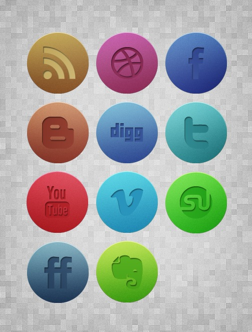 Download Subtle Textured Grunge Noise Social Media Icons Free