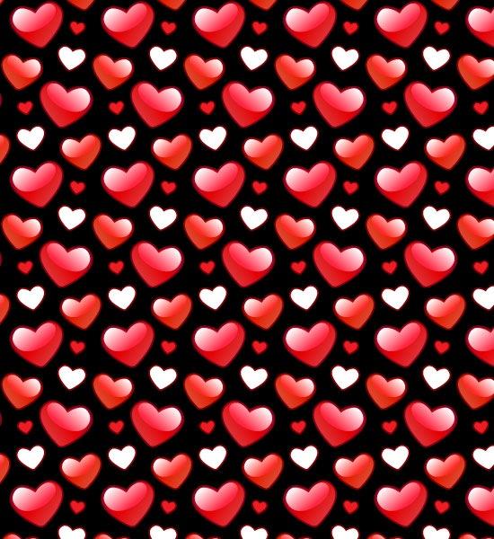 Free Shiny Valentines Heart Photoshop Pattern Designs