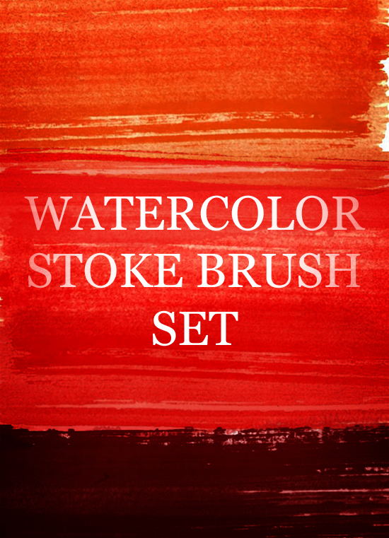 Free Watercolour Strokes Photoshop Brush Designs