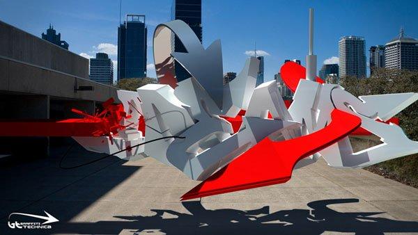 Awesome 3D Digital Graffiti of Brad Schwede Designs