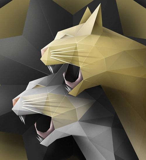 Beautiful Geometric Illustration Designs
