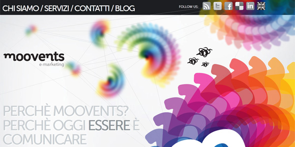 Beautiful Rainbow Elements in Web Designs