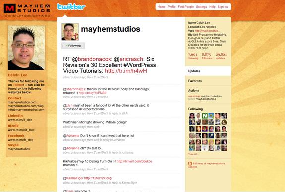 Free Beautiful Twitter Background Designs