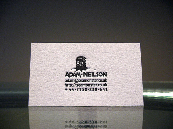 Letterpress business card designs design news letterpress business card designs colourmoves