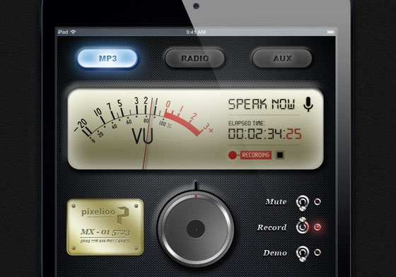 Free Mobile App Interfaces having Knobs and Dials