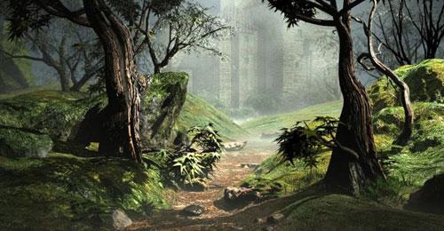 Fantastic Illustrative Digital Art Forest Scenes