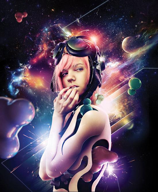 How to Create Nebula Cosmolady in Photoshop