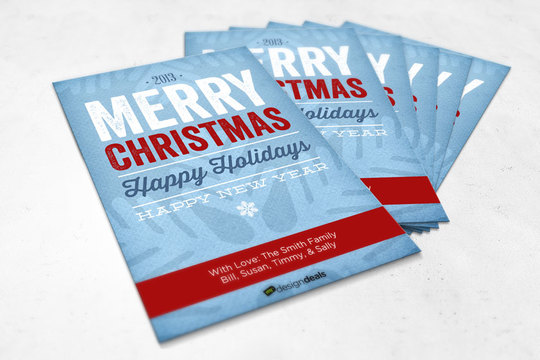 Tips on Making Typographic Christmas Cards Using Digital Papers