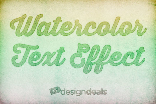 Tutorial on Making Watercolor Text Effect in Photoshop